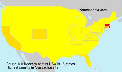 Surname Koczera in USA