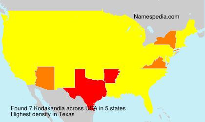 Familiennamen Kodakandla - USA