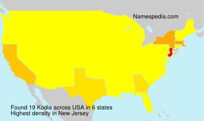 Surname Kodia in USA