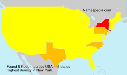 Surname Kodom in USA