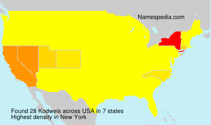 Surname Kodweis in USA