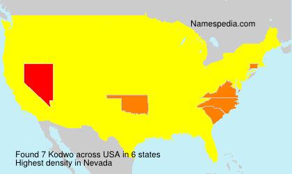Familiennamen Kodwo - USA