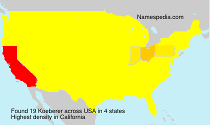 Surname Koeberer in USA