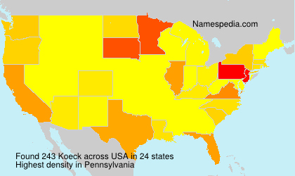 Surname Koeck in USA
