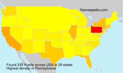 Surname Koelle in USA
