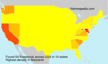 Surname Koepenick in USA