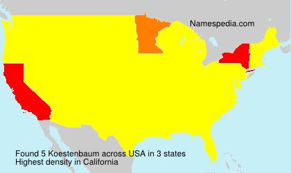 Familiennamen Koestenbaum - USA