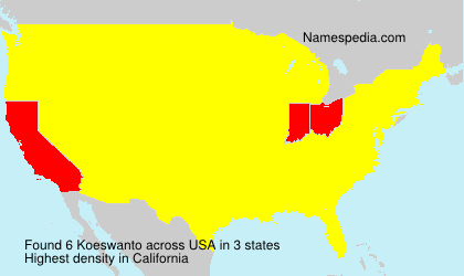 Surname Koeswanto in USA