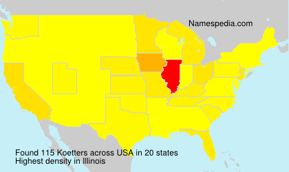 Surname Koetters in USA