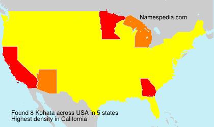 Surname Kohata in USA