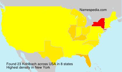 Surname Kohlbach in USA
