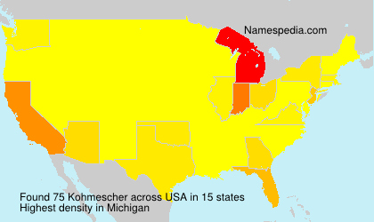 Surname Kohmescher in USA