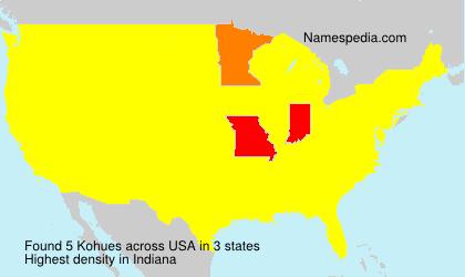 Familiennamen Kohues - USA