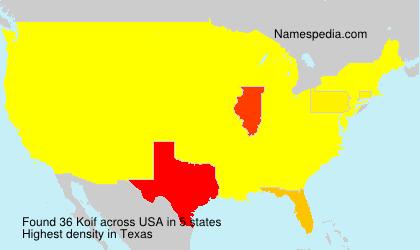 Familiennamen Koif - USA