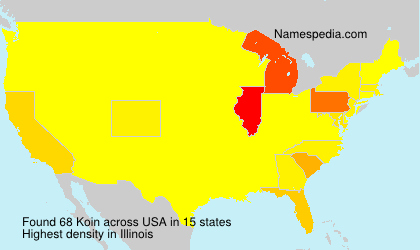 Familiennamen Koin - USA