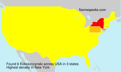 Surname Kokoszczynski in USA