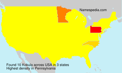 Surname Kokula in USA
