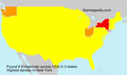 Familiennamen Koladzinski - USA