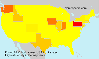 Surname Kolash in USA