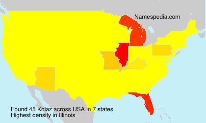 Surname Kolaz in USA