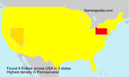 Surname Kolbes in USA