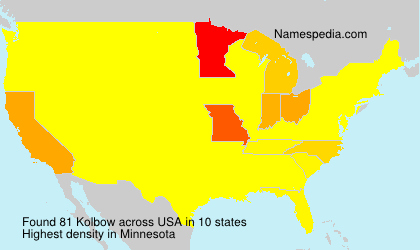 Surname Kolbow in USA