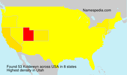 Familiennamen Koldewyn - USA