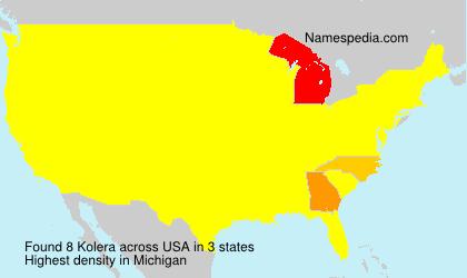 Kolera - USA