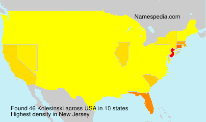 Surname Kolesinski in USA