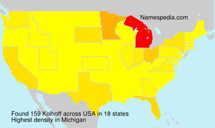 Surname Kolhoff in USA