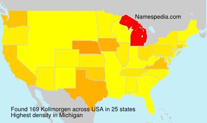 Surname Kollmorgen in USA