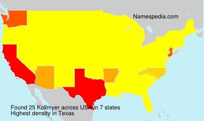Familiennamen Kollmyer - USA