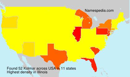 Surname Kolmar in USA