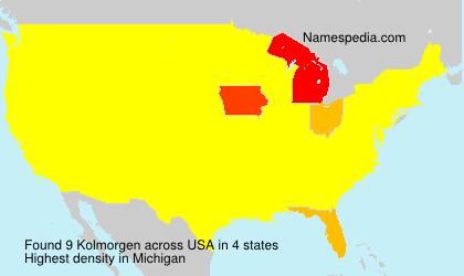 Familiennamen Kolmorgen - USA