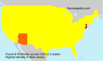 Familiennamen Kolnhofer - USA