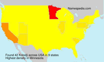 Surname Kolodji in USA