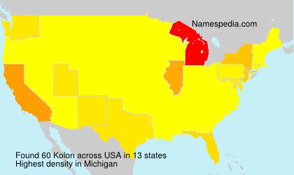 Surname Kolon in USA