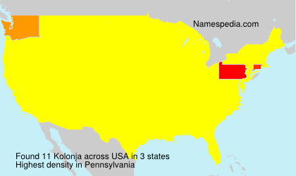 Surname Kolonja in USA
