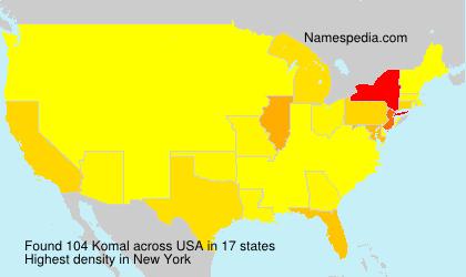 Surname Komal in USA