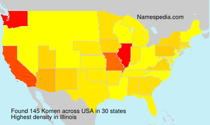 Surname Komen in USA