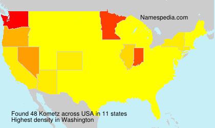 Surname Kometz in USA
