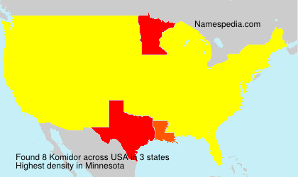 Familiennamen Komidor - USA