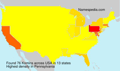 Surname Komins in USA
