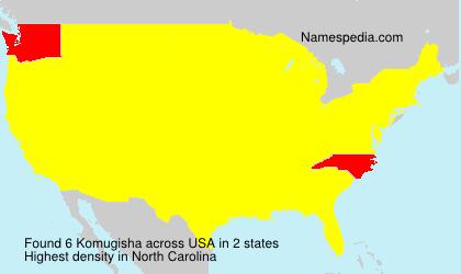 Surname Komugisha in USA
