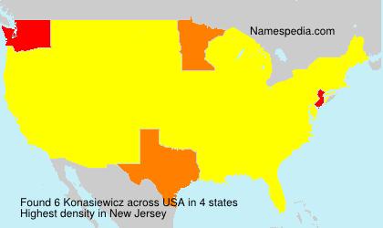 Surname Konasiewicz in USA
