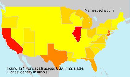 Familiennamen Kondapalli - USA