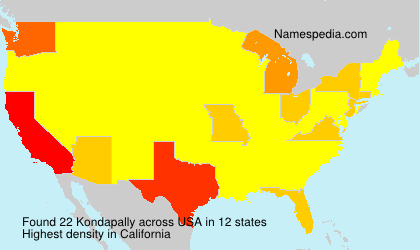 Surname Kondapally in USA