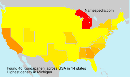 Surname Kondapaneni in USA
