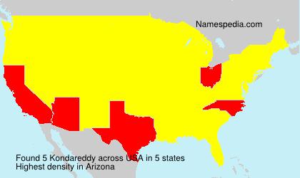 Surname Kondareddy in USA
