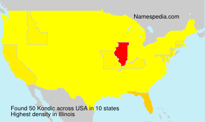 Surname Kondic in USA